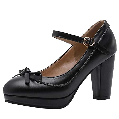 Lydee Mujer Zapatos Dulce Bow Pumps Correa