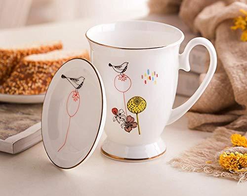 IRCATH Origineel en leuk cadeau – Bone China waterbeker, koffiebeker, koffiekopje, 320 ml