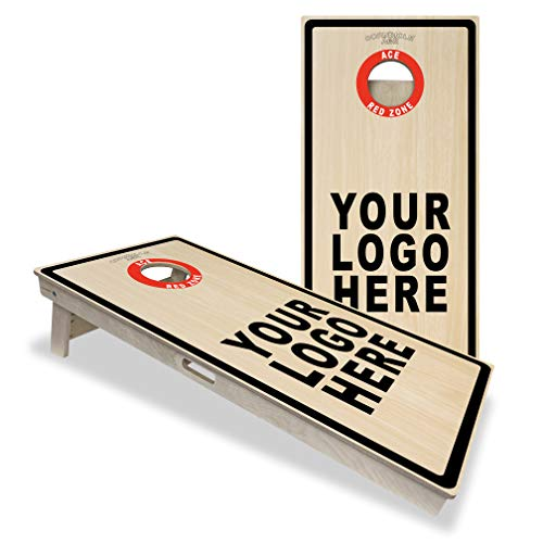 Custom ACE Red Zone - Cornhole Board Set - ACL Approved Bag Manufacturer - Made of Baltic Birch, Includes Handles, Made in USA, Professional Tournament Style, ACL Pro Player Approved