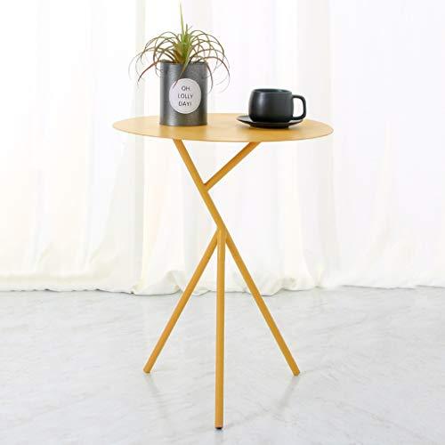 table basse nordique Simple fer art balcon chambre canapé côté petite table ronde (Couleur : A)