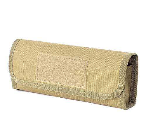 Binboll Outdoor Tactical 18-Hole Quick Access Bullets Bag Tactical Supplies Shotgun Shell Holder Molle Mag Pouch Shotshell Carrier 9.4'x 2'x 3.9' (Khaki)