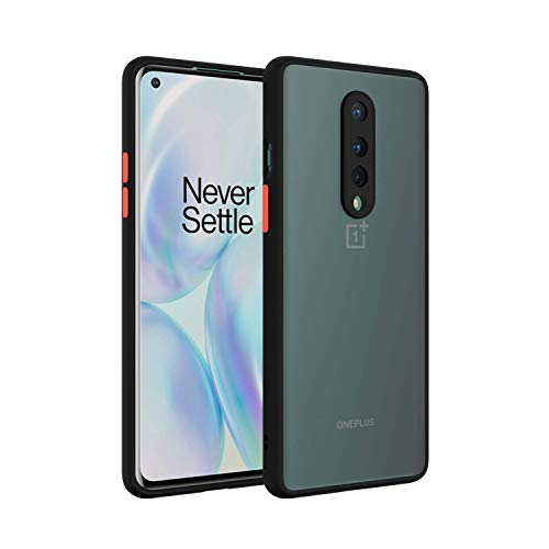 DBSpark Smoke Color Button Translucent Shock Proof Smooth Rubberized Matte Hard Back Cover case for Oneplus 8