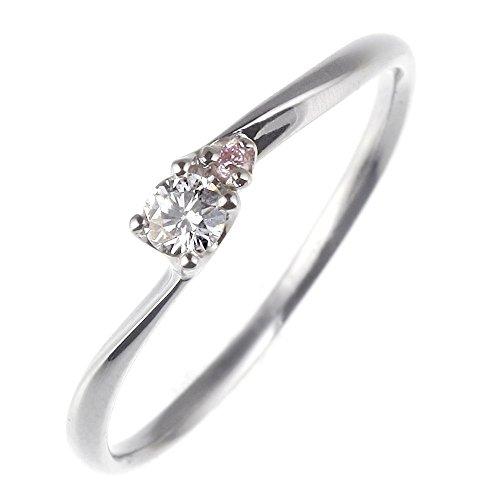 SUEHIRO ダイヤモンド リング プラチナ ピンク ダイヤ 婚約指輪