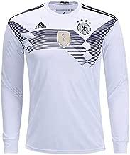 adidas Men's Soccer Germany Home Long Sleeve Jersey (S) White,Black