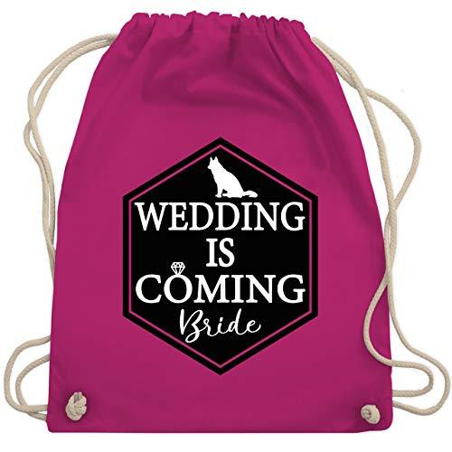 Shirtracer JGA Junggesellenabschied Frauen - Wedding is coming - Bride - Unisize - Fuchsia - WM110 - WM110 - Turnbeutel und Stoffbeutel aus Baumwolle