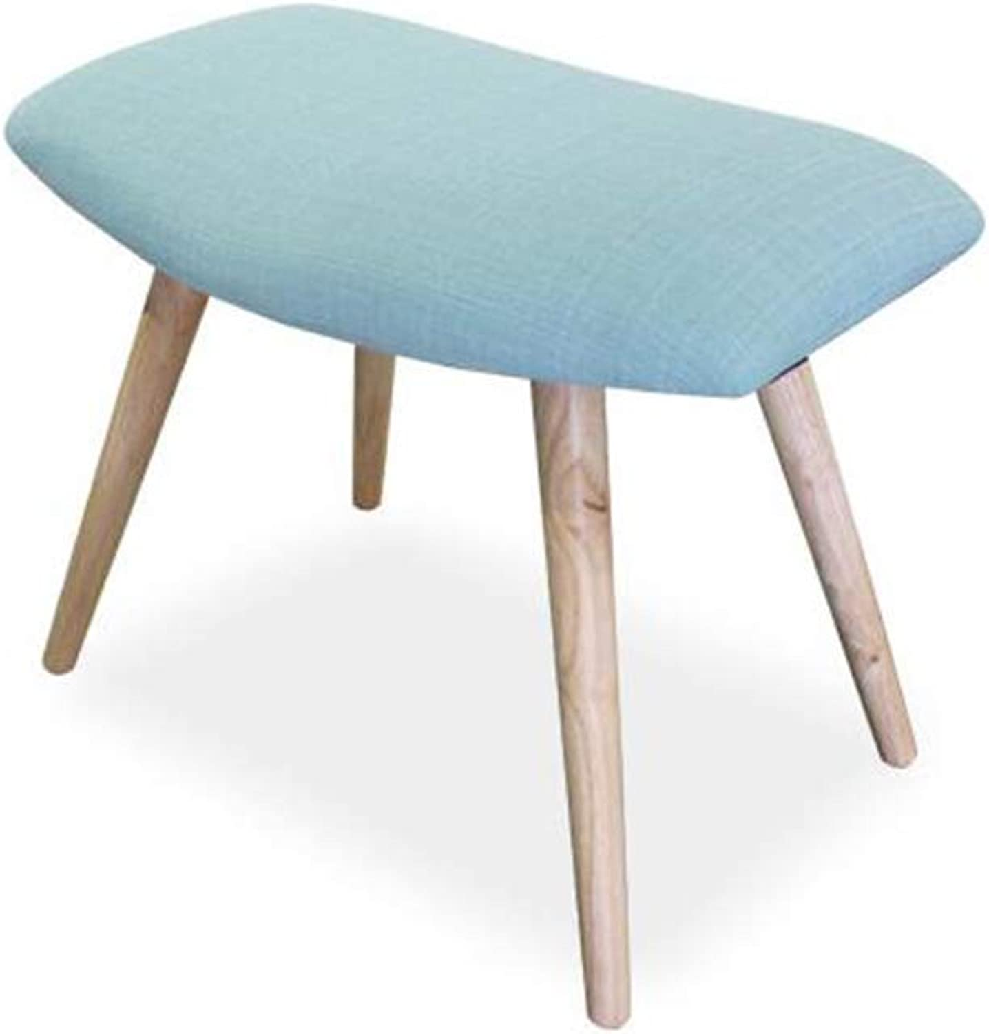 DIAOSI Xiaodengzi Sofa chair supporting squat stool Stool stool foot modern minimalist bedroom living room shoes low stool (color   bluee)