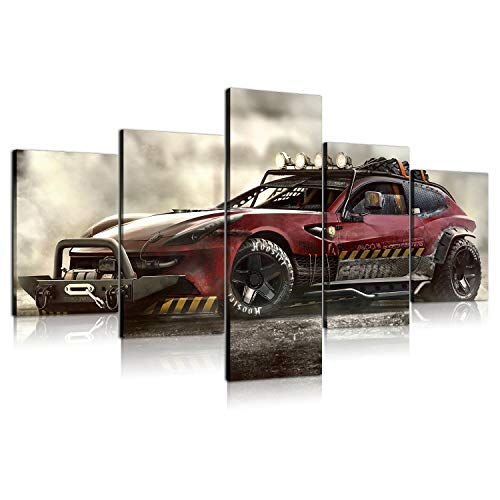 5 Panels HD Printed Ferrari FF Cars Ttuning Oil Paintings Home Wall Decor Art On Canvas (With Framed,005)