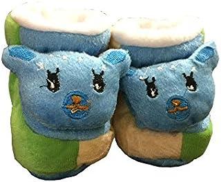 WTDESIGN Winter Warm & Soft Booties (Toe to Heel Length - 8 cm Blue)