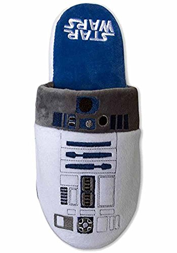Star Wars Official R2-D2 Droid Slip On Super Soft Slippers - US 6-8 (US 6-8)