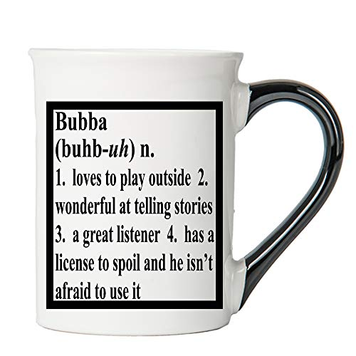 Cottage Creek Coffee Mug, Bubba Coffee Mug, Large 18oz Ceramic Bubba Definition Coffee Cup, Bubba Mug [White]