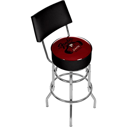 FENDER FENDER TOP HAT LOUNGE 30 BARSTOOL WITH BACK RED Barhocker