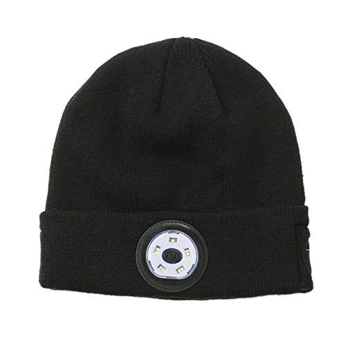 Shangxin, cappello intelligente Bluetooth 5.0, cappello con altoparlanti stereo integrati e microfono, può essere caricato e bagliore, adatto per sport, high-end e tecnologico. nero