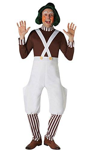 Rubies 's oficial Willy Wonka y la fábrica de Chocolate Oompa Loompa disfraz de adultos
