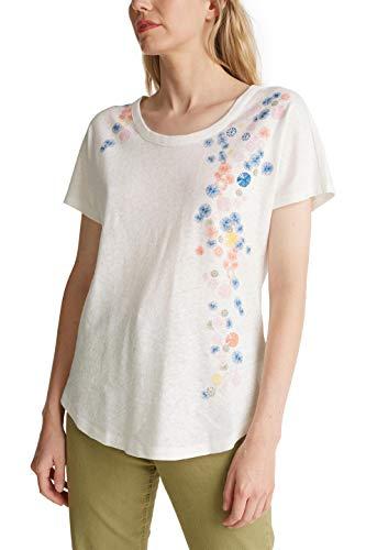 ESPRIT 050EE1K380 T-Shirt, Bianco (110), XS Donna