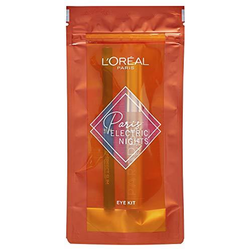 L'Oréal Electric Nights Kit de Paradise Extatic Máscara de Pestañas Volumen y Longitud, y delineador de Ojos Super Liner Perfect Slim Eyeliner