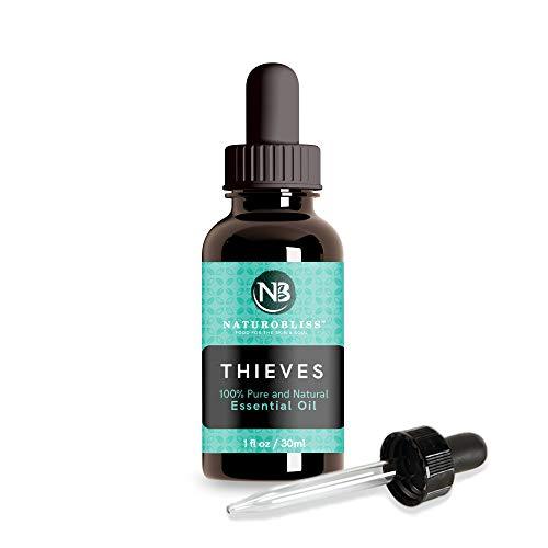 Thieves Essential Oil by NaturoBliss 1oz - 30 ml Essential Oils Blend of Cassia Clove Rosemary Eucalyptus and Lemon Essential Oils