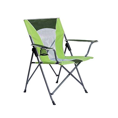 N/Z Wohnausrüstung Klappbarer Strandkorb Hochleistungs-Campingstuhl Hochleistungs-Campingstuhl Langlebiger Terrassensitz mit (Farbe: Grün)