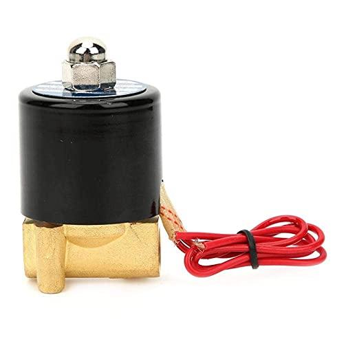 Válvula solenoide, válvula electromagnética hidráulica normalmente cerrada de 8 W, suministros industriales para medios no corrosivos como agua, aceite, aire (24 V)
