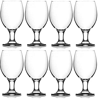 Epure Collection 8 Piece Glass Drinkware Set (Water Goblet (13.5 oz))