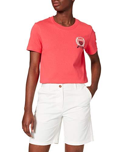 GANT Damen D1. Slim Classic Chino Shorts, Eggshell, 36