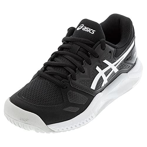 ASICS Women's Gel-Challenger 13 Tennis Shoes, 6.5, Black/White