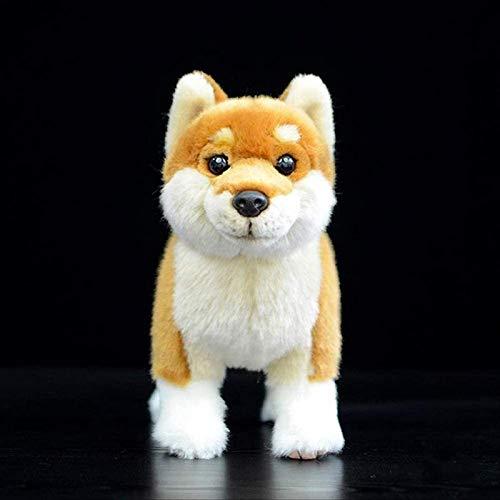 siyat Songjx-Love Japanische Shiba Inu Plüschspielzeug 28 cm, Simulation Gelb Hund Gefüllte Tierpuppen Weiche Spielzeug für Kinder Geschenke GZZXW Jikasifa