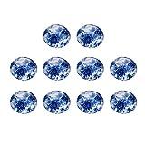 EXCEART 30 Piezas de Estilo Chino Cabujones de Vidrio Impresos en Blanco Y Azul Cúpula Semicircular Plana Azulejos Pegados para La Configuración de La Bandeja de Bisel Circular 20 Mm