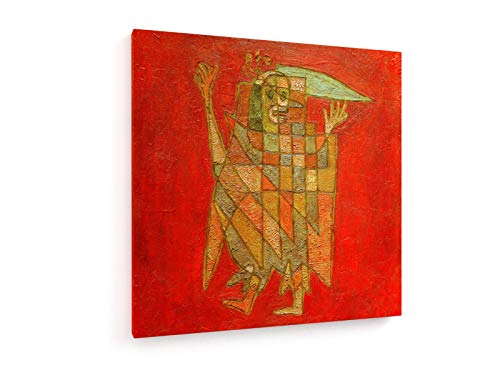 weewado Paul Klee - Allegorische Figur - 1927 30x30 cm Textil-Leinwandbild auf Keilrahmen - Wand-Bild - Kunst, Gemälde, Foto, Bild auf Leinwand - Alte Meister/Museum