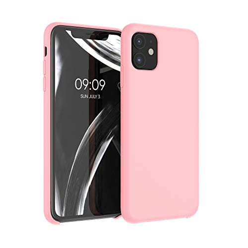 kwmobile Cover Compatibile con Apple iPhone 11 - Cover Custodia in Silicone TPU - Back Case Protezione Cellulare Oro Rosa Matt