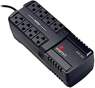 Smartbitt Regulador de Voltaje - Hogar y Oficina - Supresión de Picos - Protección de Equipos (1350 Va, Hogar y Oficina)