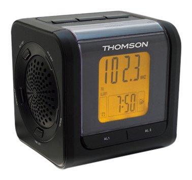 Thomson CP202 Uhrenradio mit 2 Alarmzeiten/Projektion schwarz