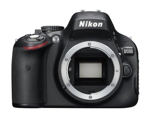 Nikon D5100 SLR-Digitalkamera (16 Megapixel, 7.5 cm (3 Zoll) schwenk- und drehbarer Monitor, Live-View, Full-HD-Videofunktion) Gehäuse