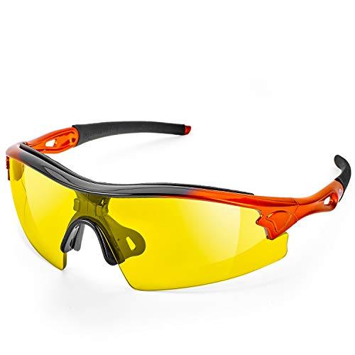 Gafas de Seguridad ToolFreak Reevo con Lentes Amarillo y Visión HD Mejoran tu Visión en Luz Apagada, Son Perfectas Para Trabajo, deporte y más. Cuentan con Protección UV y Contra Impactos EN166FT