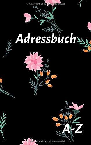 Adressbuch: Telefon und Adressbuch klein mit Platz Für Name, Adresse, Geburtstag, Telefon, Mobil, Fax, E-mail - 110 Seiten alphabetisch geordnet