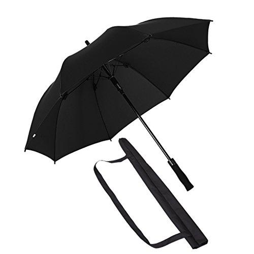 ZHEN GUO klassieke regenparaplu winddichte dubbele overkapping, lichtgewicht versterkte glasvezel frame 8 ribben, automatische open stevige grote paraplu met slip-proof ergonomische handvat en zwarte mouw