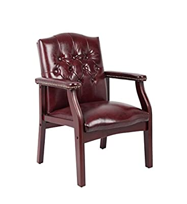Boss Office Traditional Faux Leather Tufted Guest Chair B959