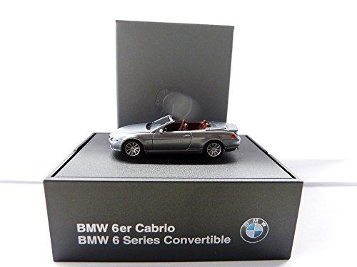 BMW 6er Cabrio Silbergrau-metallic E64 Modell 1:87 Herpa 80410153431