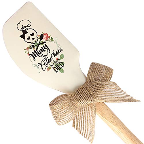 THREE HUMAN Many Have Eaten Here Funny Silicone Spatula, Funny Baking Tool, Modern Farmhouse Kitchen Decor, Gift for Chef, Sister, Mom, Pastry Chef, Friends