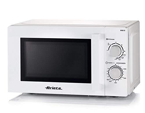 Ariete 952 Four à micro-ondes combiné, 20 litres, réchaud, cuiseur et décongélation, 5 niveaux de puissance, 3 fonctions combinées, grill, plat pivotant 25,5 cm, minuteur 35 minutes, blanc