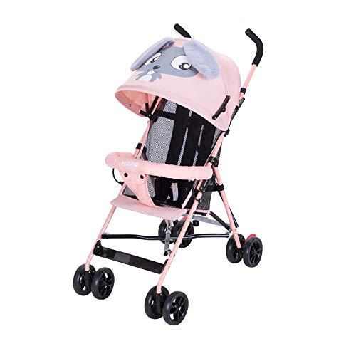 GWX kinderwagen voor baby's, ultralichte versie van de karikatuur van de kinderwagen, inklapbaar, met stootvaste werking, kan in een hellende positie zitten, voor de baby