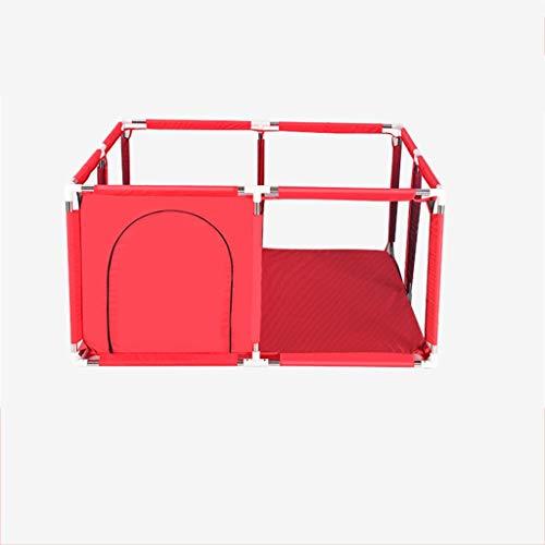 C-J-Xin Familie Schutzzaun, Innen Wohnzimmer Zaun des Babys Creepy Zaun/Blau, Rosa, Rot, Hellblau Grün / 128 * 128 * 66CM Spielzeug/Spielzelte (Color : Red, Size : 128 * 128 * 66CM)