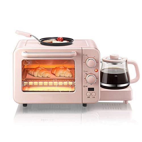 Life Accessories Oven Mini grille-pain électrique de bureau 8L1400W avec une machine à rôtir et chauffer le petit-déjeuner multifonction avec une plaque de cuisson une pelle à griller un pot chaud