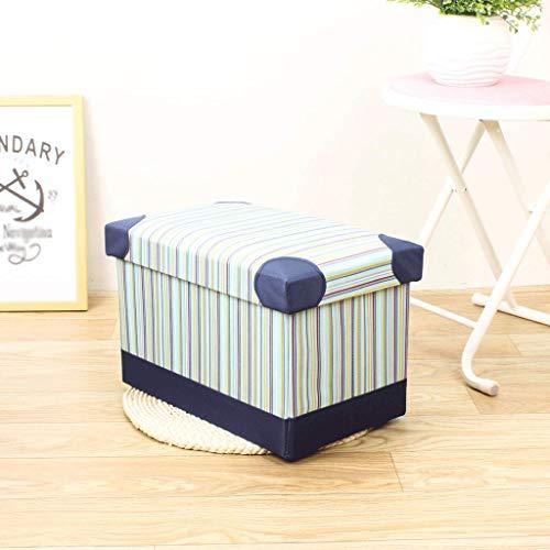 Caja de almacenamiento plegable de rayas creativas de Corea del sur sala de estar de tela niujin almacenamiento de pies de sof¨¢ dom¨¦stico para zapatos almacenamiento de gran capacidad