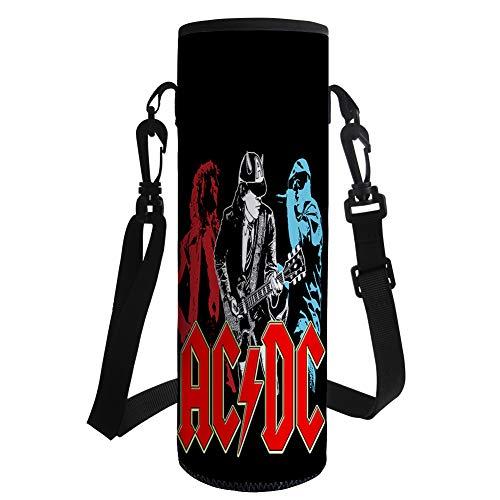 Csdwebn ACDC Botella Portador de Agua anticaída Copa de Aislamiento Holder clásico con Mango de Silicona Resistente al Calor Protector Populares (Color : A05, Size : 26 X 9.55 X 9.5cm)