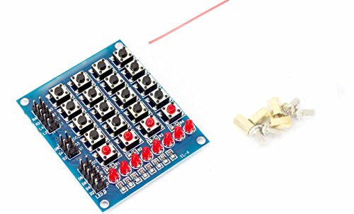 4x5 Button Matrix Tastatur Button Board Switching Board 20 Tasten 8LEDs für Arduino Raspberry Pi DIY Mikrocontroller