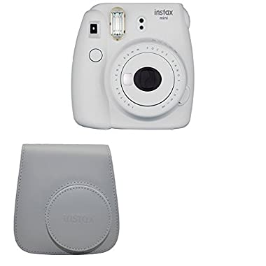Fujifilm Instax Mini 9 Instant Camera with Instax Groovy Camera Case (Smokey White)