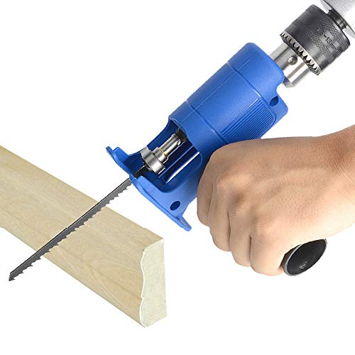 Electric Drill Modified Electric Saw, KKmoon Electric Reciprocating Saw Household Saber Saw Power Drill to Jig Saw Portable Woodworking Cutting Tool