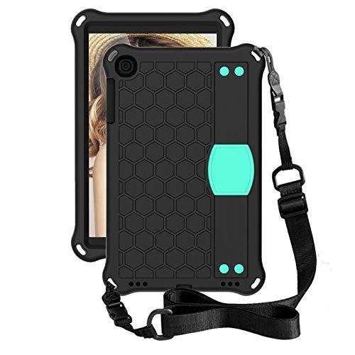 YYLKKB para Samsung Galaxy Tab A S7 S6 Lite S5E 4 10.4 10.1 8.0 8.4 SMT510 T290 T387 Funda Soporte de Silicona Funda a Prueba de Golpes Funda para Tableta-Negro-Aque_