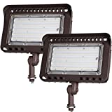 LEONLITE LED Knuckle Mount Flood Light, CRI 90+, 100W (1000W Eqv.), IP65, ETL Listed, 5000K Daylight, Backyard, Parking Lot, Pack of 2