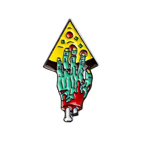 Zombie Hand Pizza Brosche Party, Jeansjacke Hemd Abzeichen, Kostüm Kragen, Tasche Zubehör @ D